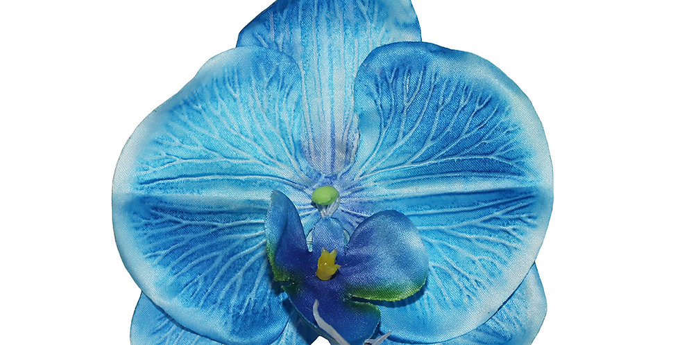 XL Baby Blue Orchid Hair Flower