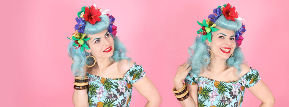 Pin Up Hair Flowers