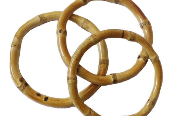 Pack of 3 Bamboo Bangles - Natural