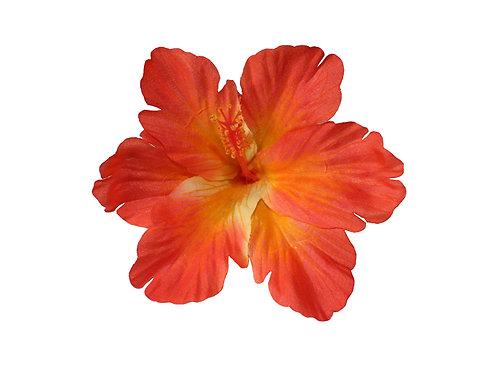 DEBRA Hibiscus Hair Flower in Orange