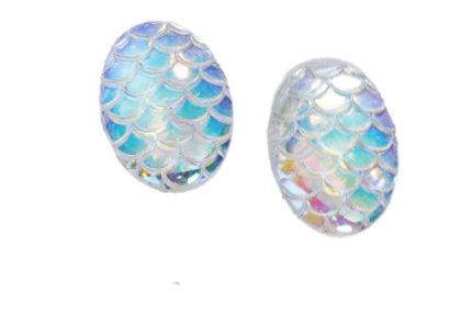 Mermaid Scale Earrings - Ivory