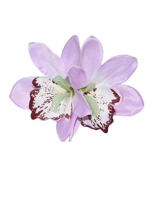 GIGI Double Lilac Orchid Hair Flower