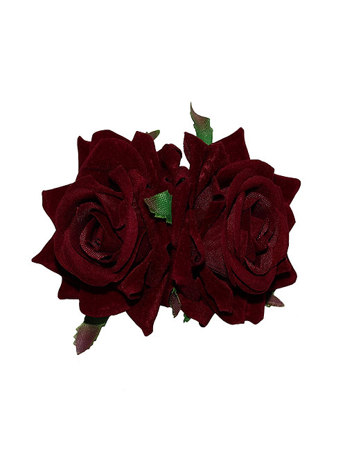 ELLEN Small Double Roses - Burgundy