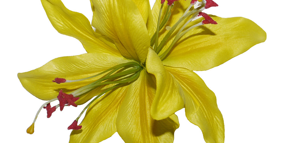 PALOMA Double Yellow Lily Hair Flower
