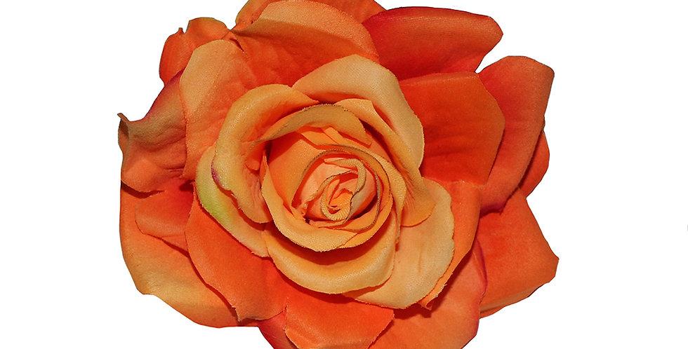 Large Orange Rose Hair Flower
