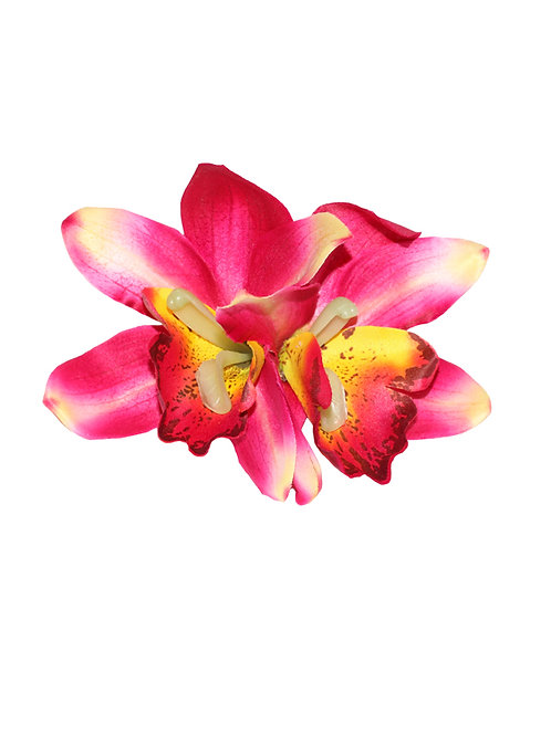 GIGI Double Cerise Orchid Hair Flower