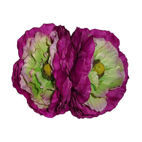 MAY Double Ranunculus Purple Hair Flower