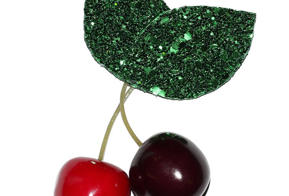 Glitter Cherry Hair Clip