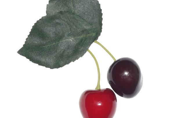 Double Cherry Hair Clip