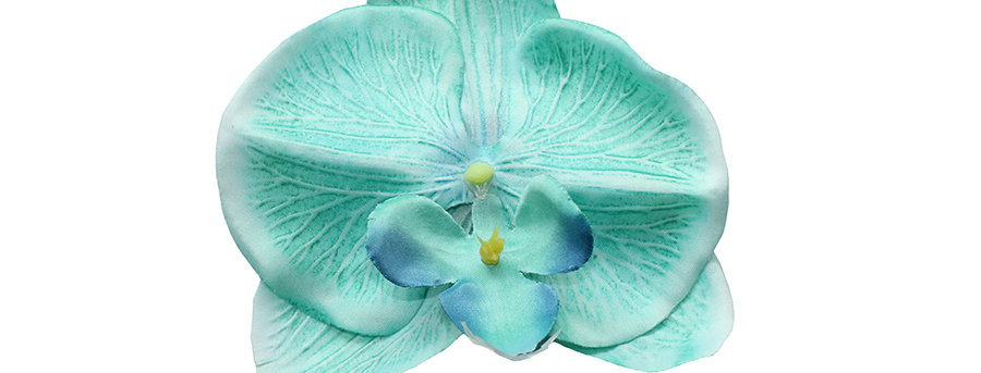 XL Turquoise Orchid Hair Flower