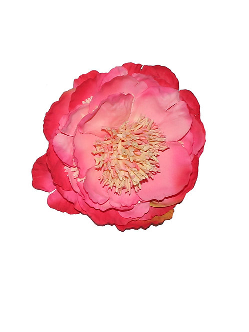 Large Coral Peony Hair Flower