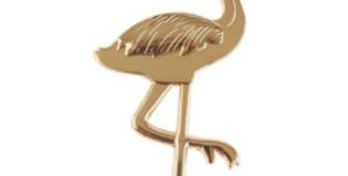 Gold Flamingo Bottle Opener