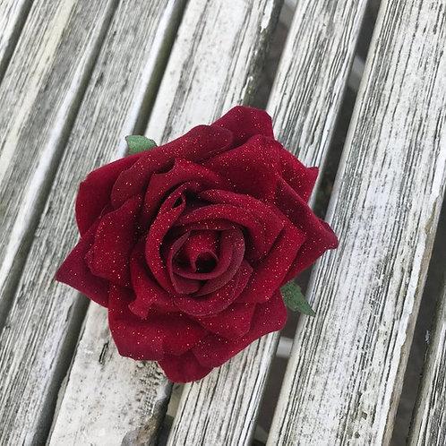 Bernie Red Glitter Rose