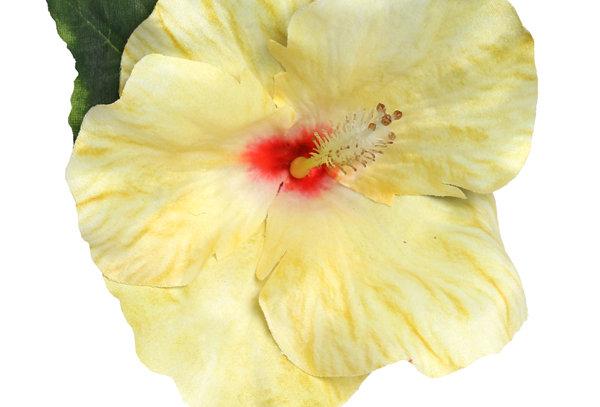 XL Yellow Hibiscus Tropical Hair Flower