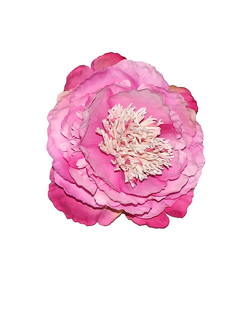 Large Pink Peony Hair Flower