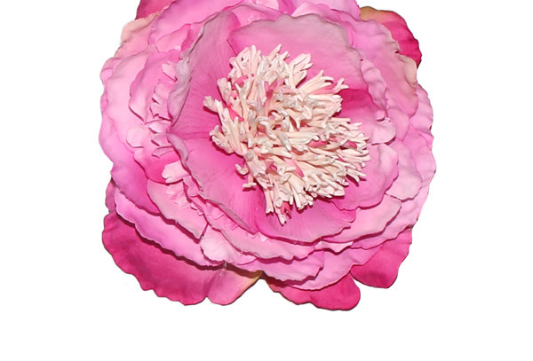 Large Pink Peony Vintage Hair Flower