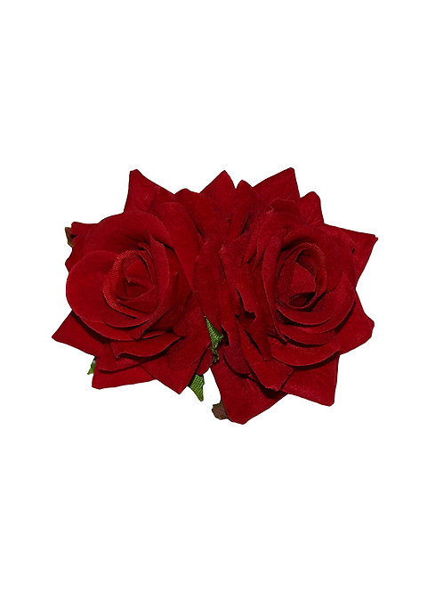 ELLEN Small Double Roses - Red