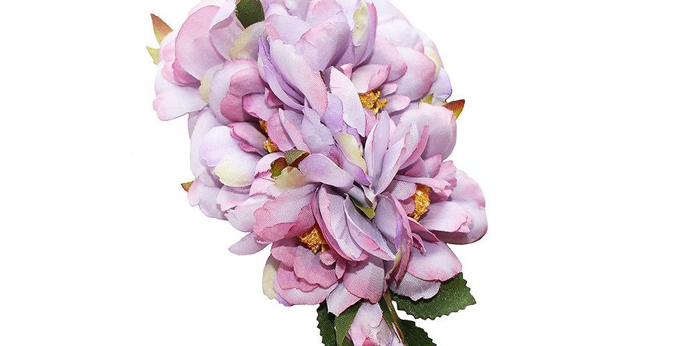 AMELIA Lilac Peony Hair Flower
