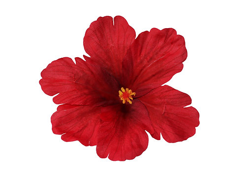DEBRA Hibiscus Hair Flower in Red