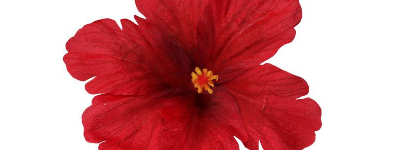 DEBRA Red Hibiscus Hair Flower