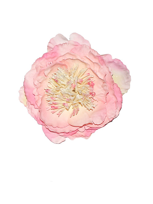 Large Baby Pink Peony Hair Flower