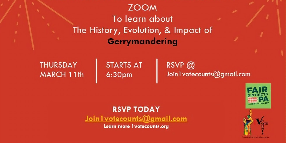 Gerrymandering 101 Zoom 60 Min Symposium