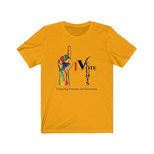 Gold Unisex 1 Vote Counts Premium Tshirt