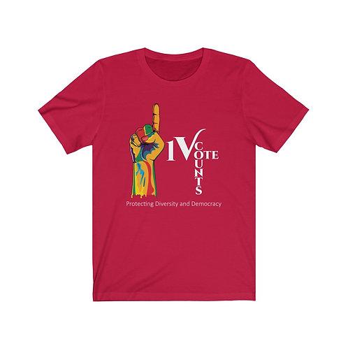 Red Unisex 1 Vote Counts Tshirt