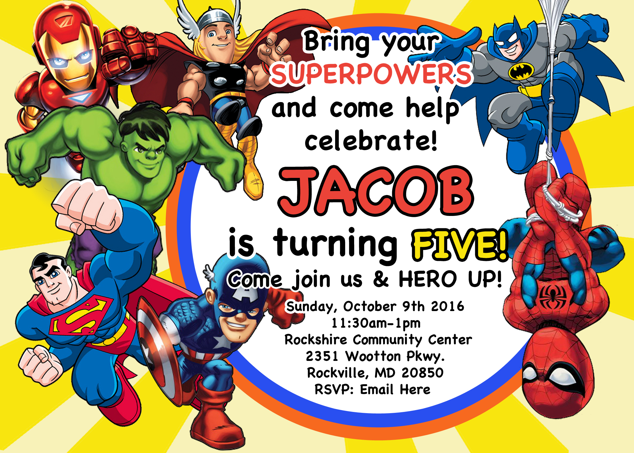 Superhero Invite