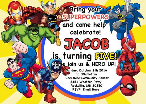 Superhero Invite