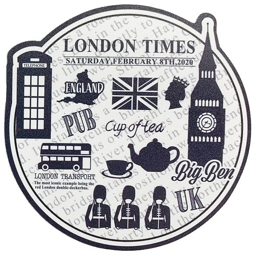 Plastic Place mat (x 2) + coasters (x2) - London Calling Collection