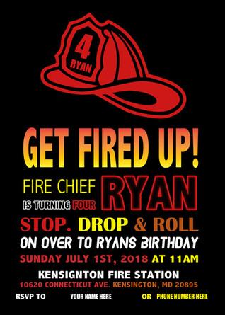 Fireman Birthday