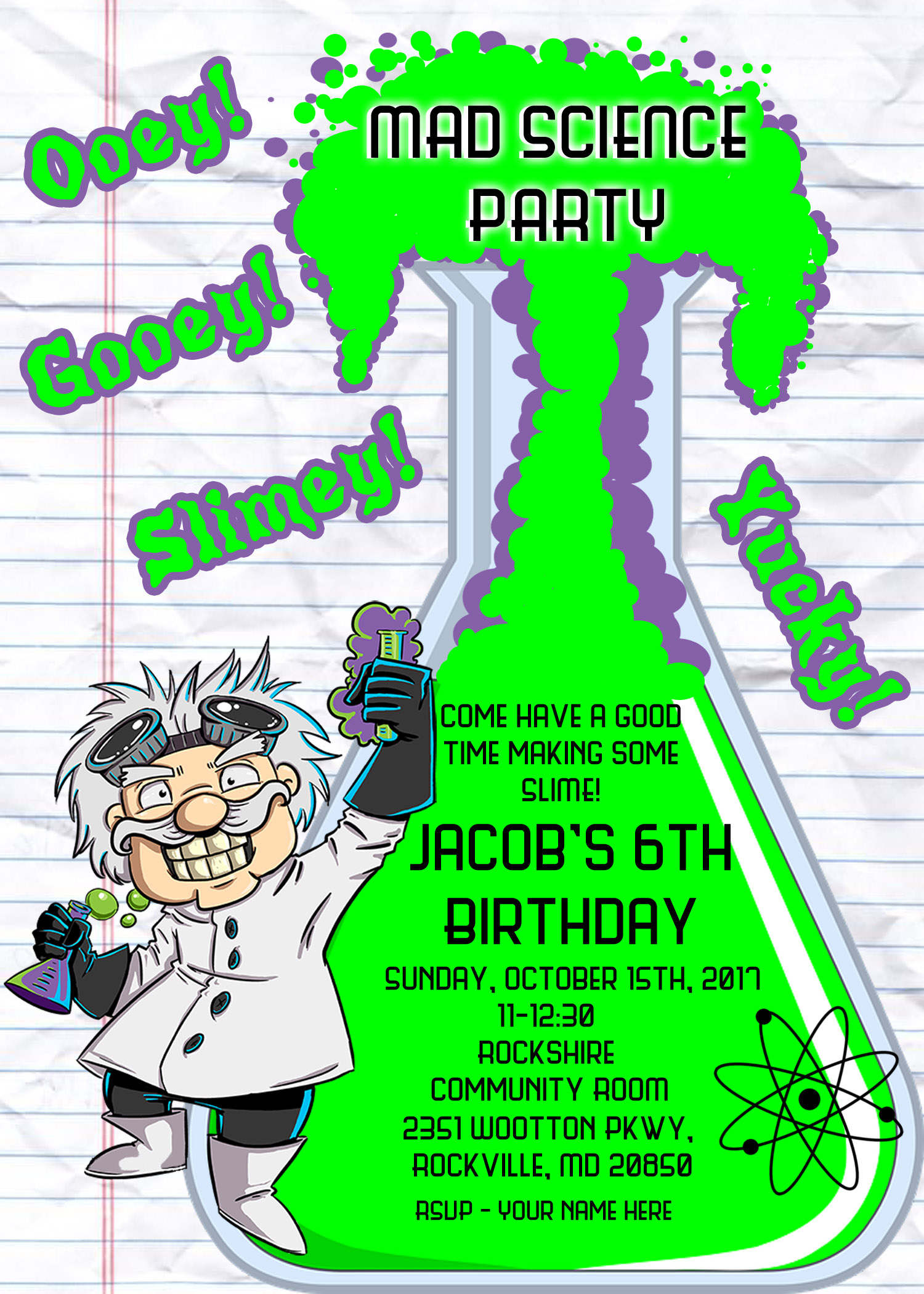 Mad Scientist Bday