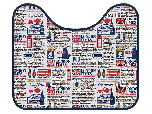 Toilet Carpet 50cm x 42 cm - London Calling Collection