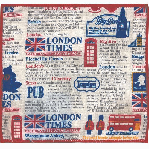 Kitchen Towels x 5 - London Calling Collection