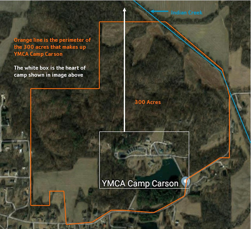 Aerial Entire Camp Carson Property - up