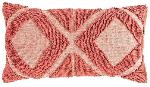 Cotton Knitted Pillow Coral