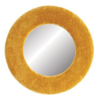 Velvet Framed Mirror - Yellow