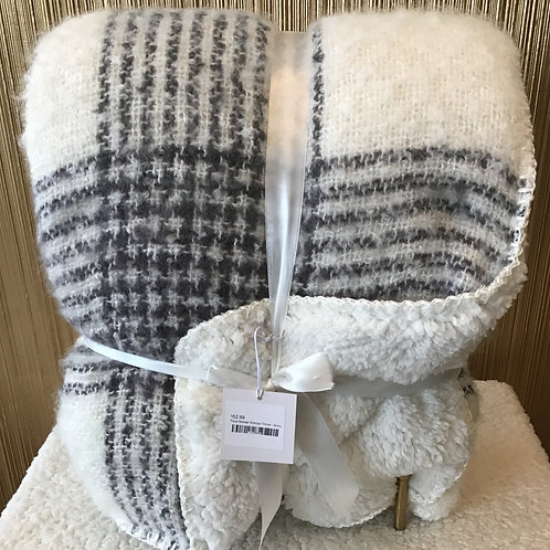 Faux Mohair Sherpa Throw - Ivory
