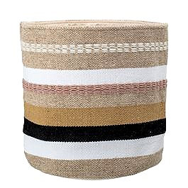 Woven Wool & Cotton Basket