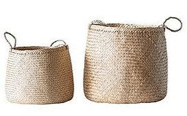 Round Natural Basket - Large
