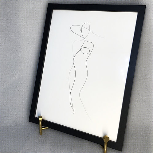 Framed Wall Decor w/Abstract Print
