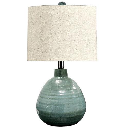 Turquoise Ceramic Table Lamp