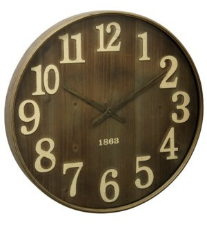Antique Metal & Glass Wall Clock