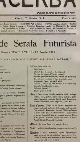 Lacerba, il Futurismo e quel nipotino sgraziato del Superuomo di Nietzsche
