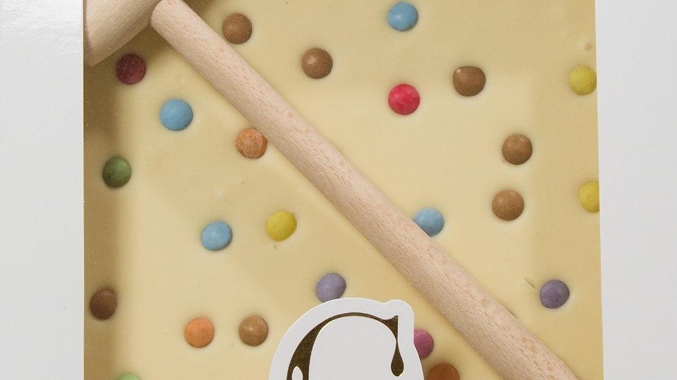 Coffret Marteau Chocolat Blanc et  Smarties