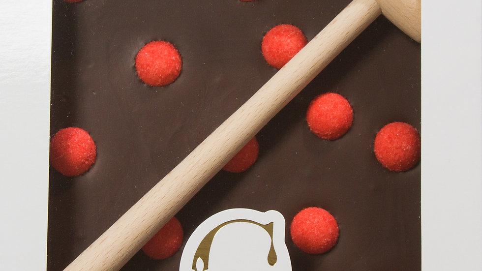 Coffret Marteau Chocolat Noir et Fraises Tagada