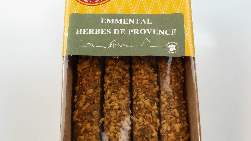 Biscuits salé feuilletés Allumettes à l'Emmental et aux herbes de provence