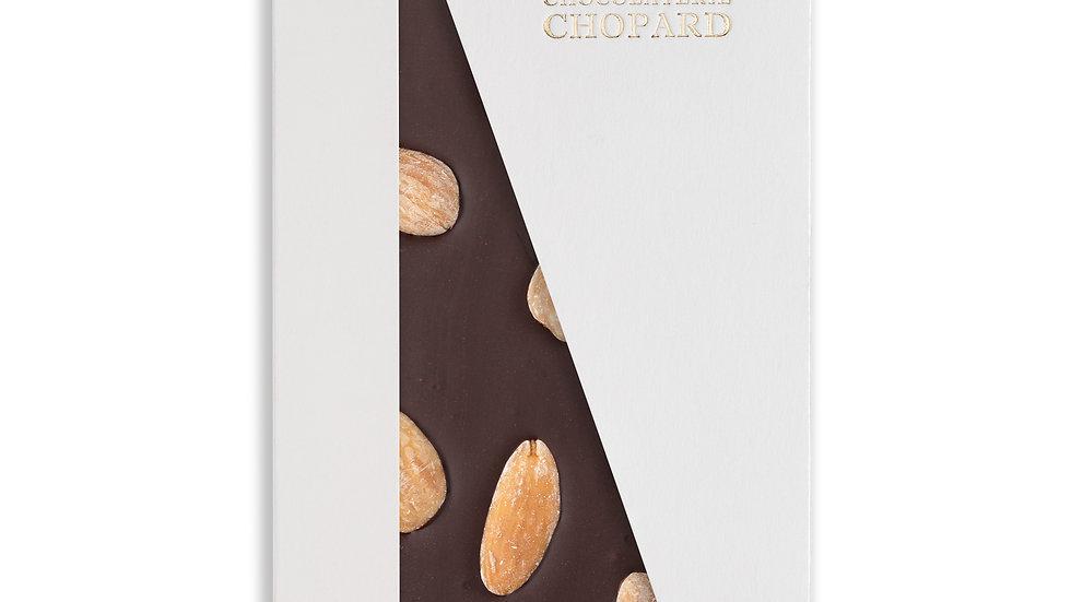 Tablette de Chocolat Noir aux Amandes entières