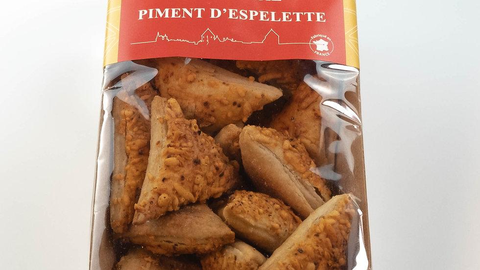 Biscuits Feuilletés à l'Emmental et au Piment d'Espelette
